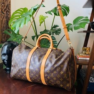 LOUIS VUITTON keepall 45 Bandouliere Duffle bag LV